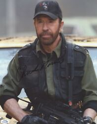Chuck Norris Autographed Signed 11x14 Photo The Expendables Acoa Racc