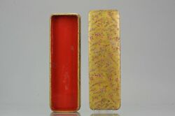 Antique Student Pencil Box Japanese Lacquer Ware Writing Meiji Period Japan