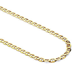 Mens Womens 14k Yellow Gold Mariner Chain Necklace 5mm 20 - 30
