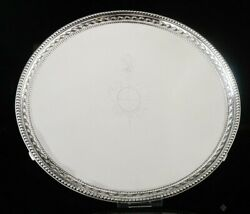 Antique Silver Salver, 5th Earl Of Chesterfield Coat Of Arms 1777 John Schofield