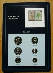 Coins Set Of All Nations Series - Jamaica - Set Of Six Coins And Two Stamps Mint