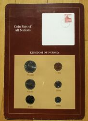 Coins Set Of All Nations - Kingdom Of Norway - Set Of Six Coins And Stamp Mint