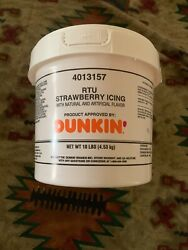 Rtu Strawberry Icing Approved By Dunkin 10 Lbs New Yum Now You Can Have At Home