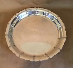 Vintage Lunt Sterling Silver Tea Service Tray Early Dublin Design 757-d 38oz 14