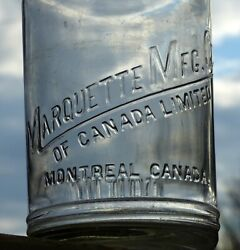 Rare Canadian Marquette 1 Imperial Quart Motor Oil Glass Bottle Free Shipping