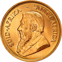 [895719] Coin South Africa Krugerrand 1974 Ms Gold Km73