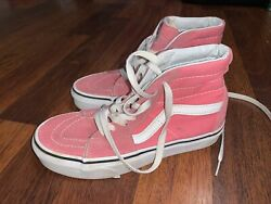 Vans off the Wall High Top Pink Shoes Women#x27;s Size 5 Men#x27;s Size 3.5