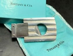 And Co. Sterling Silver Cigar Cutter Atlas Stripe 1995