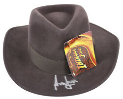 Harrison Ford Indiana Jones Authentic Signed Hat Autographed Bas A08764