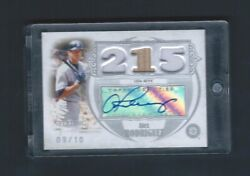 2007 Topps Sterling Career Stats Relics Autographs Csa120 Alex Rodriguez 9/10