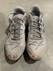 """Ronald Acuna Jr. Atlanta Braves Game Used Cleats """"2020 Playoffs"""" Signed Loa"""