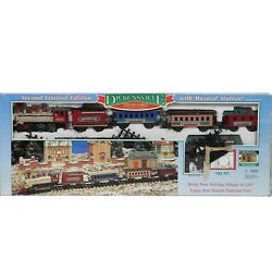 New Vintage Dickensville Collectables Christmas Train Set Musical Station 174w