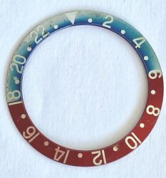 Rolex Genuine Vintage Gmt 1675 Pepsi Blue And Red Insert Red Back