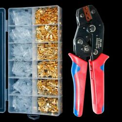 Wire Crimped Hand Tool Connection Terminals Electrical Insulated Assortment Kit