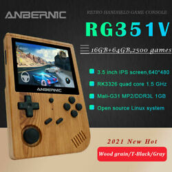 Anbernic Rg351v Retro Game Console Handheld Video Game Games 2400+ Player L4w5