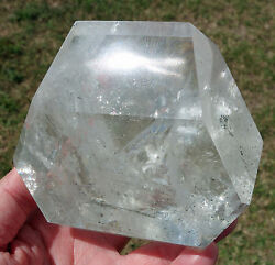 Clear Quartz Crystal Point With Green Chlorite Inclusions Freeform For Sale