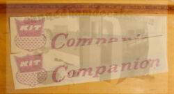 Kit Companion Vintage Travel Trailer Repro Decals 50-70's Pick Your Set Of 2