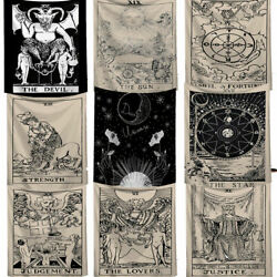 Tarot Card Tapestry Art Wall Hanging Astrology Bedspread Home Decor Divination