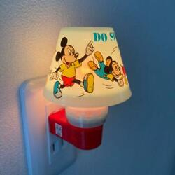 Disney Mickey Mouse Mini Socket Lamp With Box Vintage Free Shipping From Japan