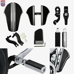 Defiance Floorboard Foot Peg Higway Mount Fit For Harley Touring Softail Dyna