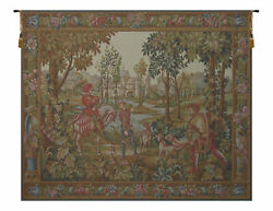Retour De Chase French Tapestry Wall Art Hanging For Home Decor New 35x53 Inch