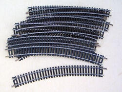 Lot 11 Pc Silver Ho Train Curved Mixed Lot Atlas,tyco,bachmann