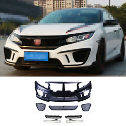 Fit For Honda Civic Ms 2016-2020 Front Skid Plate Bumper Board Guard Unpainted