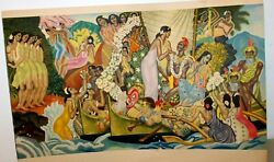 The Matson Murals By Eugene Savage 1948-1956 Set Of 6 - 14 X 21 Litho Prints