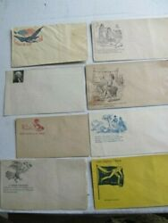 Lot Of 8 Great, Nicely Colored Civil War Patriotic Covers, Envelopes,mail, Csa
