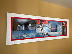 """Michael Air Jordan Poster 25"""" X 75 Nike 1998 Professionally Framed And Flawless"""