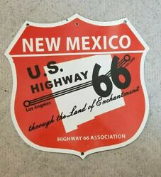 New Mexico 18 Route 66 Porcelain Association Road Sign Heavy Steel
