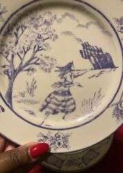 American Heritage Dinnerware Plates And Bowls Discontinued Set Of 10.
