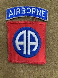 Original 82nd Airborne Division Patch And Rocker Wwii Paratrooper No Glow