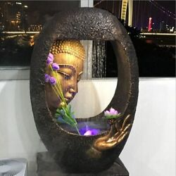 Buddha Fountain Home Decoration Craft Art Buddhism Water Fountains House Display