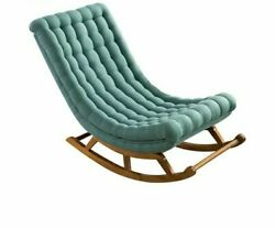 Rocking Lounge Chair Home Furniture Modern Design Wood Fabric Upholstery Chairs