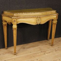 Console Lacquered Furniture Table Living Room Italian Wood Antique Style
