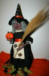 Vintage Original 1988 Telco Motionette Halloween Witch W/original Box And Extras