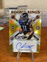 2020 Chase Claypool Optic Gold Holo Rookie Kings Autograph /10 S91 Invest📈🔥