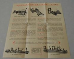 Original Farquhar York Pa Tractor Portable Sawmill Outfits Steam Boiler Pamphlet