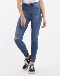 Silent Theory Vice High Skinny Jean - Rrp 109.99 - Free Post - Sale Sale