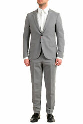 Hugo Boss Men's Anfred/frido184f1 Extra Slim Fit 100 Wool Two Button Suit
