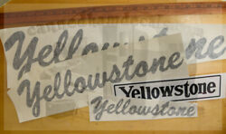 Yellowstone Vintage Travel Trailer Repro Decals Black 1950's -70 Your Choice