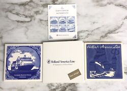 Official Holland America Line Blue And White Delftware Tiles Posiedon Statendam
