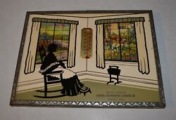 1941 Thermometer Silhouette Print Farmers Cooperative Chapin Iowa Woman Sewing