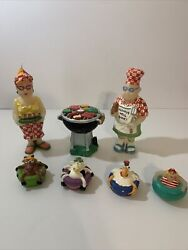 Vintage Pool Side Beach Bbq Candle Set Of 7 Boston Warehouse Trading Corp