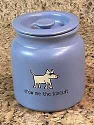 Show Me The Biscuit Dog Treat Canister Pet Cookie Jar Made In Usa Ceramic Source