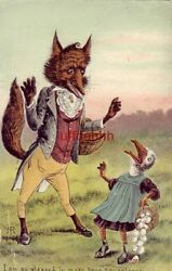 Big Bad Wolf Greets Duck I Am So Pleased To Make Your Aquantance