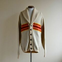 Pendleton Auth 1970and039s Chief Joseph Shawl Collar Cardigan Size L Used From Japan