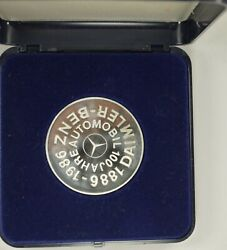1886-1986 100 Years Daimler-benz Auto Silver Proof Car Commemorative Medal