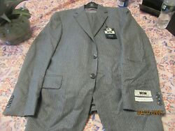 Nwt Joseph Abboud Suit Gray Flannel Vested Usa Made 1000 40s Modern Fit